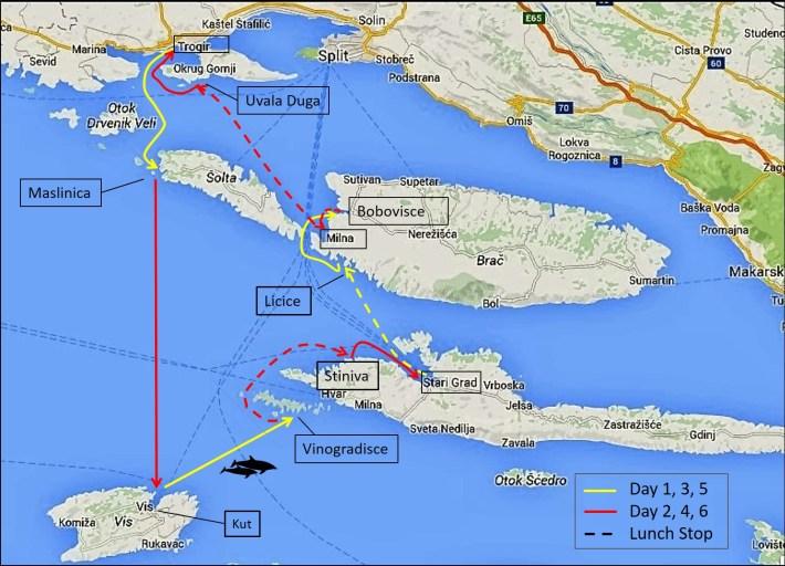 CCS Itinerary, Split, Croatia Sail