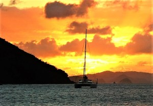 Sunset at Norman Island, BVI