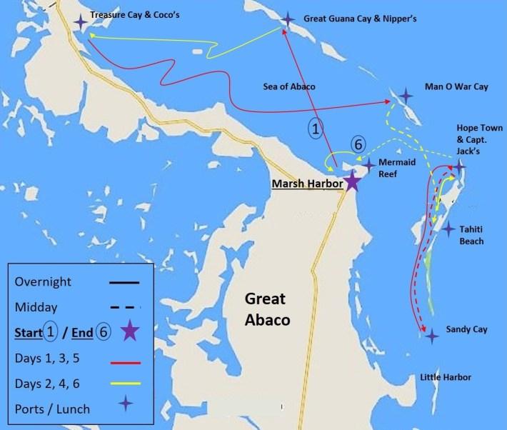 Abaco, Bahamas Itinerary
