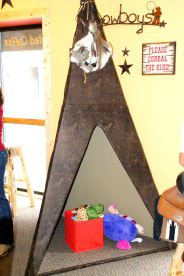 Look at this cute little teepee our La Crosse store has for the youngins'.