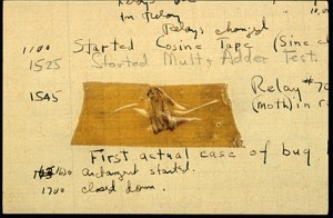 National Museum of History computer bug log book
