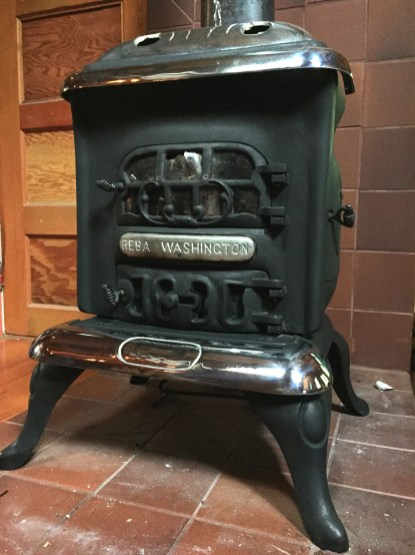 """Once a year, polish your cast-iron wood stove with """"stove polish."""" Also  known as """"stove black,"""" it's a simple graphite paste which is very easy to  apply: ... - Cast-Iron Wood Stove Care Cabin Dweller's Textbook"""