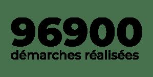 Total de 96900 démarches réalisées pour arriver à ce réaliser