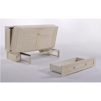 Night and Day Daisy Murphy Queen Cabinet Bed - Buttercream