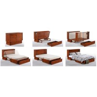 Night and Day Clover Murphy Queen White Cabinet Bed