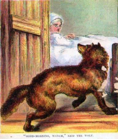 """Good Morning, Madam,"" said the Wolf"