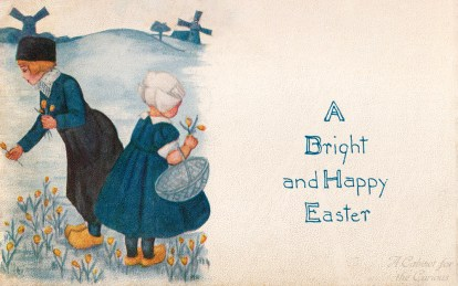 A Bright and Happy Easter Postcard