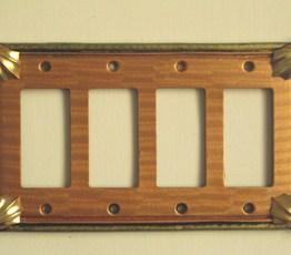 Susan Goldstick Decorative Switchplates CLEO AMBER QUAD DECORA COVER