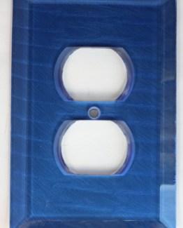 Susan Goldstick Decorative Outlets Glass Outlet Cover - Lapis