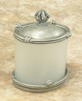 Anne at Home Mai Oui Large Vanity  Jar with Pewter Lid