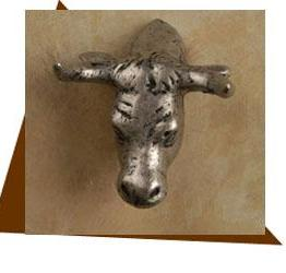 Anne At Home Steer Head Cabinet Knob