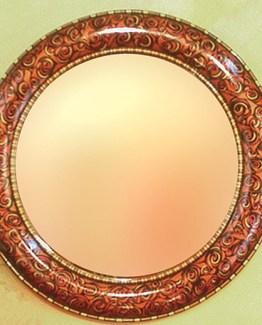 Susan Goldstick Decorative Mirror - Aurora Mirror - Copper/Ruby/Jade