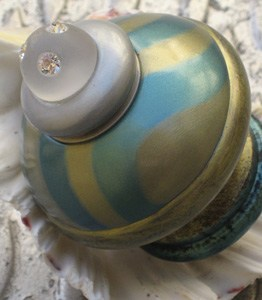 Susan Goldstick Decorative Finials Tempo Green -Jade/Mint/Crystal Matte Cabochon