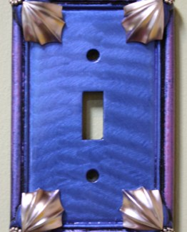 Susan Goldstick Decorative Switchplates Cleo Switch Cover1 - Lapis/Periwinkle