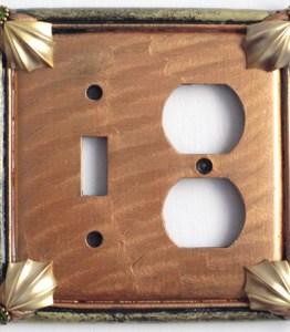 Susan Goldstick Decorative Outlets Cleo Toggle Duplex - Amber