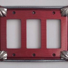 Susan Goldstick Decorative Switchplates CLEO RUBY TRIPLE DECORA