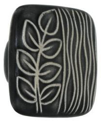 Acorn Manufacturing Ceramic Black White Sea Grass Cabinet Knob