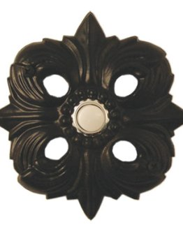 Waterwood Hardware Decorative Avalon Doorbell- Black