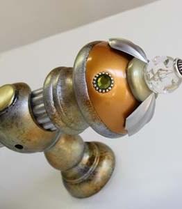 Susan Goldstick Decorative Finials Birdie Finial Deep Gold /Jade