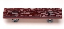 Sietto Glass Cabinet  Pull Glacier  Garnet Red