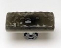Sietto Glass Rectangular Cabinet Knobs Glacier Oregon Grey