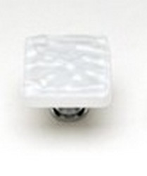 Sietto Glass Cabinet Pull Glacier  White