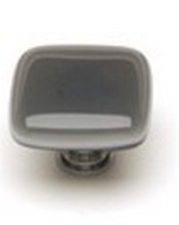 Sietto Glass Cabinet Knob Intrinsic  Silver Grey