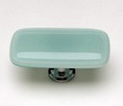 Sietto Glass Rectangular Cabinet Knobs Intrinsic Light Aqua