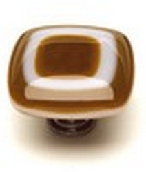 Sietto Glass Cabinet Knob Luster  Umber Brown