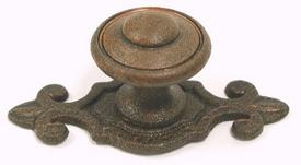 Rust M27 Canterbury Knob 1 1//4 w//Backplate Britannia Collection Top Knobs