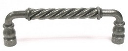 """Top Knobs Normandy Collection Cabinet Knobs  Twisted Bar Pull 6"""" (c-c) - Pewter"""
