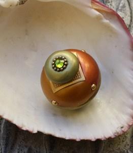 Susan Goldstick Copper Nu Duo Decorative Cabinet Knob