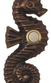 Waterwood Hardware Decorative Seahorse Doorbell-Oil Rubbed Bronze