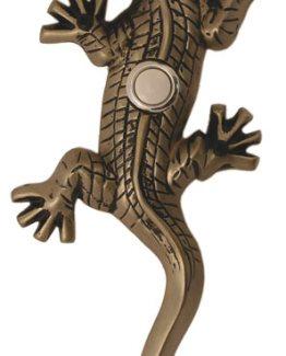 Waterwood Hardware Decorative Lizard ( Gecko )Doorbell-Pewter