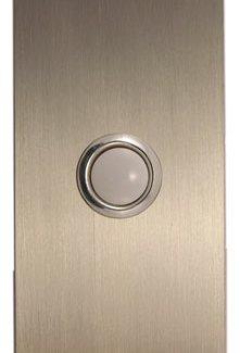 Waterwood Hardware Stainless Steel Large Rectangular Doorbell