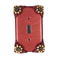 Susan Goldstick Bloomer Poppy Single Toggle Switch Plate
