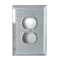 Susan Goldstick SILVER GLASS SINGLE DUPLEX OUTLET COVER