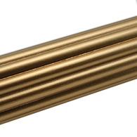 "Susan Goldstick Reeded Gold Curtain Rod 6ft/2"" diameter"