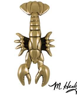 Michael Healy Designs Maine Lobster Door Knocker - Brass-Premium