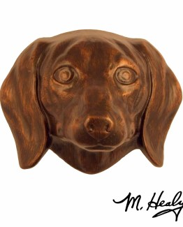 Michael Healy Designs Dachshund Door Knocker Oiled Bronze