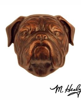 Michael Healy Designs Bulldog Door Knocker Oiled Bronze