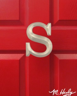 Michael Healy Design Letter S Door Knocker - Brushed Nickel