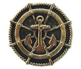 "Notting Hill Cabinet Hardware Ship's Wheel Brite Brass 1-5/16"" diameter"