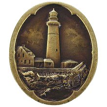 Notting Hill Cabinet Knob Guiding Lighthouse Antique Brass