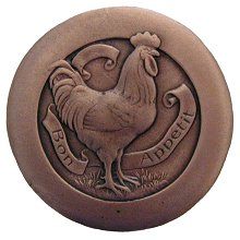 """Notting Hill Cabinet Hardware Rooster Antique Copper 1-7/16"""" diameter"""