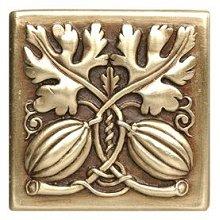 "Notting Hill Cabinet Knob Autumn Squash Antique Brass 1-1/2"" square"