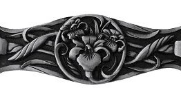 Notting Hill Cabinet Pull River Iris Brilliant Pewter