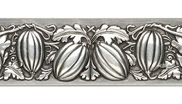 """Notting Hill Cabinet Pull Autumn Squash Antique Pewter 4-7/8"""" x 1-1/4"""""""