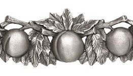 """Notting Hill Cabinet Pull Georgia Peach Antique Pewter 5"""" x 1-1/2"""""""