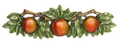 """Notting Hill Cabinet Pull Georgia Peach Pewter Hand Tinted 5"""" x 1-1/2"""""""